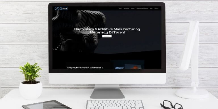 Site vitrine entreprise tech